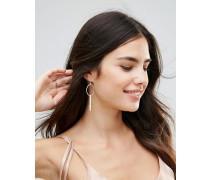 Versilberte Ohrringe mit Anhängern