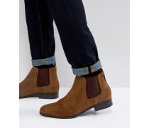 Chelsea-Stiefel aus hellbraunem Wildleder