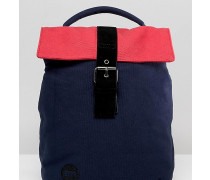 Mi Pac - Kleiner Rucksack mit Umschlag oben mit Marine und Rosa Farbblock-Design