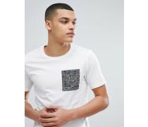 T-Shirt mit bedruckter Tasche