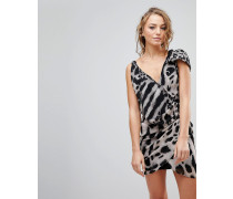 Passion - Asymmetrisches Kleid mit Animalprint