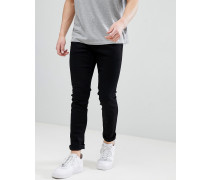 Enge Jeans in Schwarz