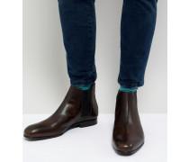 Kayto - Chelsea-Stiefel aus braunem Leder