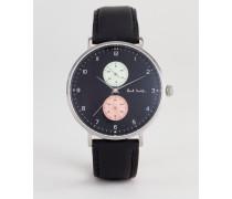 PS0070004 - Track Designe 42 mm Armbanduhr aus Leder