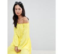 Bardot-Sommerkleid mit Spitzendetail