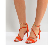 farbene fast unsichtbare Sandalen mit Riemchen