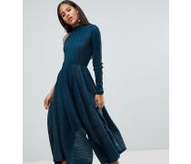 ASOS DESIGN Tall - Asymmetrisches plissiertes Kleid