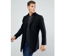 Eleganter Mantel mit Doppellage in Schwarz