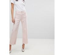 Hepburn - Jeans mit kurzem Schnitt weitem Bein und ausgefranstem Saum