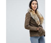 Bellini - Jacke mit breitem Kunstpelzkragen