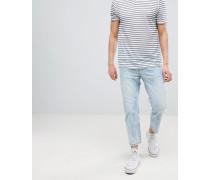 Otis - Kurze Jeans in hellblauer Waschung