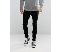 Levi's - 519 - Extrem enge Skinny-Jeans in verwaschenem Schwarz
