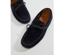 Eldon - Schuhe aus Wildleder in Marineblau