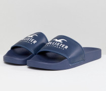 Slider mit Logo in Marineblau