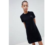 T-Shirt-Kleid aus schwerem Stoff mit zwei Zierstreifen