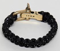 gewebtes Armband mit Verschluss in poliertem Gold