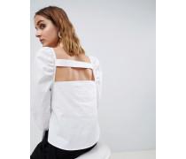 Oberteil mit Zierausschnitt und Raffung an der Schulter