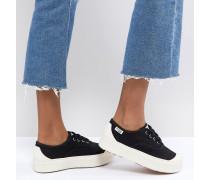 SUBe Sneaker aus Textil mit flacher Plateausohle
