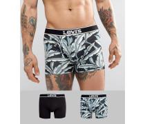 Unterhosen im 2er-Pack mit hawaiianischem Blätter-Print