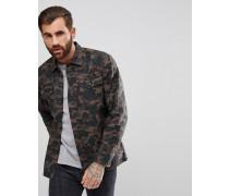 Levi's - Jeans-Hemdjacke mit Military-Muster
