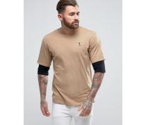 T-Shirt mit Lagen-Ärmeln
