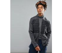 Activewear Kinetic - Gesteppte Sweatjacke in Schwarz/Grau