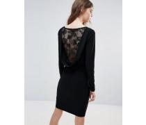 Figurbetontes Kleid mit Spitzeneinsatz am Rücken