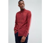 Gebürstetes Oxford-Hemd in Rot