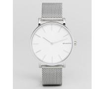 SKW6442 Hagen - Uhr mit schmalem Netz-Armband in Silber 38 mm