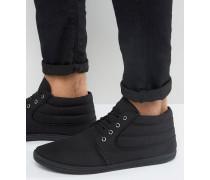 Chukka-Stiefel aus schwarzem Canvas