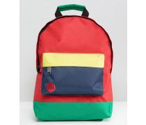 Kleiner Rucksack mit Farbblockdesign