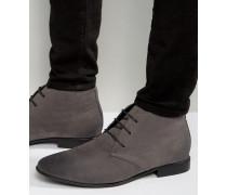 Chukka-Stiefel aus grauem Wildlederimitat