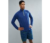 Running - Sweatshirt in Marineblau mit halblangem Reißverschluss 51501111