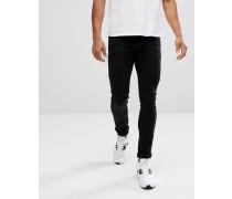 Extrem enge schwarze Jeans mit niedriger Taille