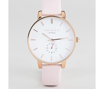 TE50310003 Olivia - Uhr mit Lederarmband in Rosa 40 mm