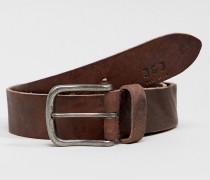 Ledergürtel mit Vintage-Schnalle