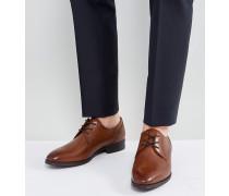 Lauriano - Derby-Schuhe aus hellbraunem Leder