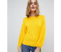 Blouson-Pullover mit Schnürung an den Ärmeln