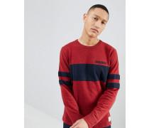 Varsity - Leichtes Sweatshirt in Rot mit Streifen auf der Brust