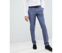 Schmal geschnittene Anzughose in Blau