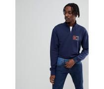 Torrey - Marineblaues Sweatshirt mit kurzem Reißverschluss VA36SULKZ