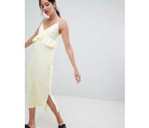 Kleid mit Rüschen und Camisole-Trägern
