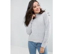 Tainsor - Oversize-Pullover mit Stehkragen und abgerundetem Saum