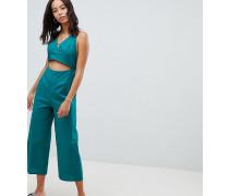 ASOS DESIGN Tall - Jumpsuit aus Baumwolle mit Cutout