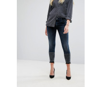 Florence - Kurz geschnittene Skinny-Jeans mit kontrastierendem Saum