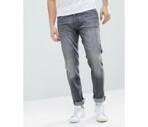 Schmal geschnittene Jeans in grauer Waschung