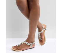 Sandale mit Knoten-Zehensteg