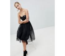 Kleid mit Ballettröckchen und paillettenverziertem Bustier-Oberteil