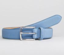 Schmaler Ledergürtel in Blau