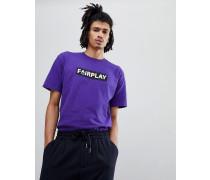 Pam - T-Shirt mit Logo in Violett